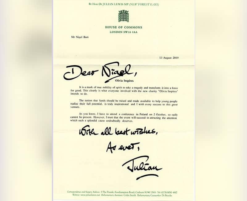Julian Lewis Letter